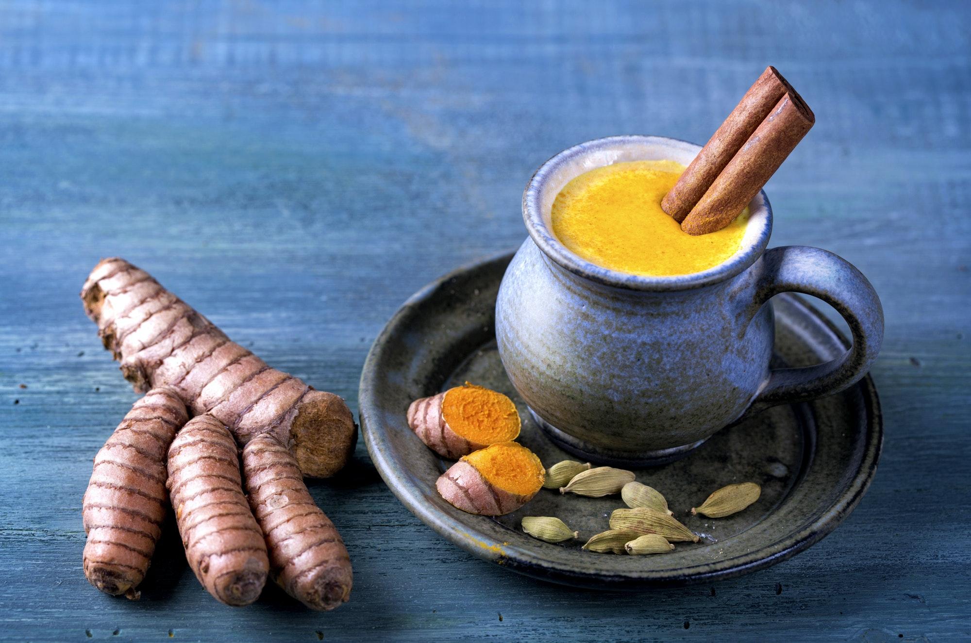 Golden milk with turmeric